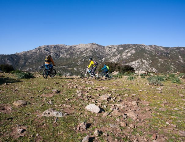 Itinerario sentiero sterrato in mountain bike da Irgoli a Norghio