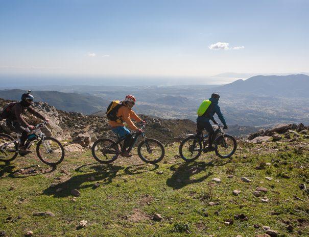 Facile percorso in mountain bike sul Monte 'e Senes