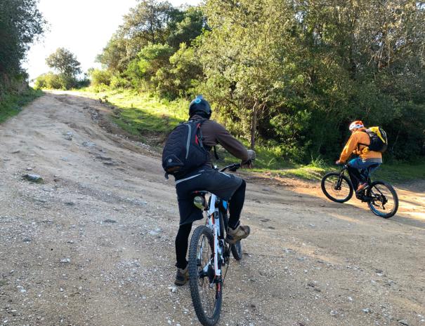 Mountain bike, sentiero sterrato di Sa Mesa
